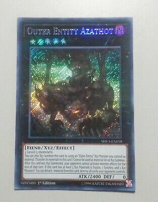 Yugioh Outer Entity Azathot SHVA-EN018 Secret Rare Near Mint 1st Edition