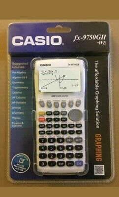 New Casio fx-9750GII Graphing Calculator, White Free Shipping AP SAT PSAT ACT IB