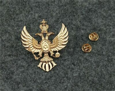 Souvenir Russian masonic double head eagle badge Freemason badges pin Brooches