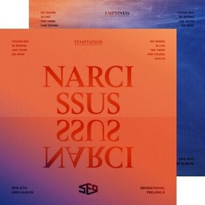 SF9-[Narcissus] 6th Mini Album 2 SET CD+Poster/On+Booklet+PhotoCard+Selfie+Gift