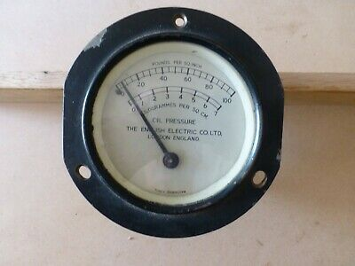 vintage locomotive oil pressure gauge, steampunk