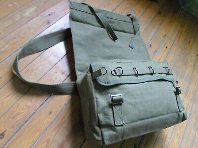 british army royal post mail messenger bag vintage pack backpack od green 1944