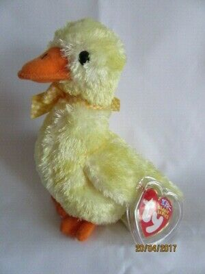 TY BEANIE BABY DUCK- e - MINT - RETIRED