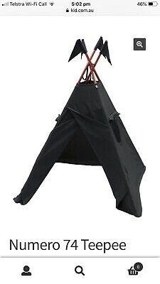 Numero 74 Charcoal Teepee & Futon Rrp $445 EUC PU Frenchs Forest NSW