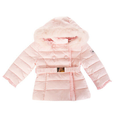 SILVIAN HEACH BEBE Down Quilted Jacket Size 6-9M Detachable Hood Popper Front