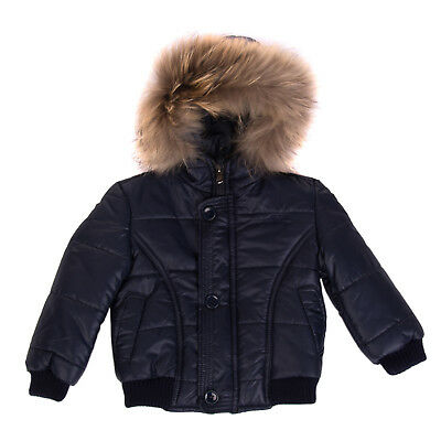 M&F MANUELL & FRANK Quilted Jacket Size 9M Padded Hooded Made in Italy