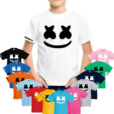 DJ Marshmello Face Mask Kids Boys Girls Adults T-Shirt Top Skin Game EDM,DOCTOM.