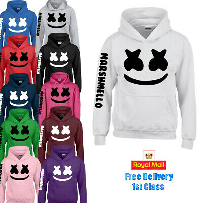 Marshmello DJ Mask Music Dance Top Hoodie Sweater Kids Boys Girls Gift DOCTOM