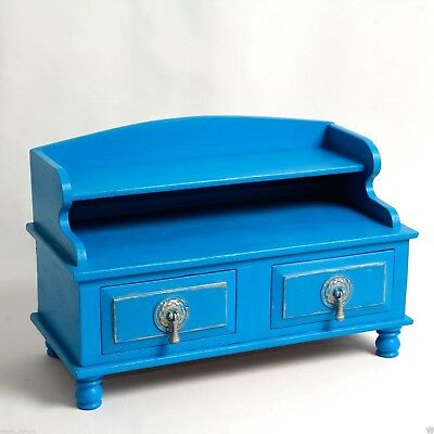 Desk Tidy Jewellery Trinket Drawers Refinished Vintage 40cm L