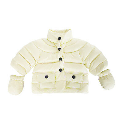 ADD Down Quilted Jacket Size 6M Detachable Mittens Popper Front