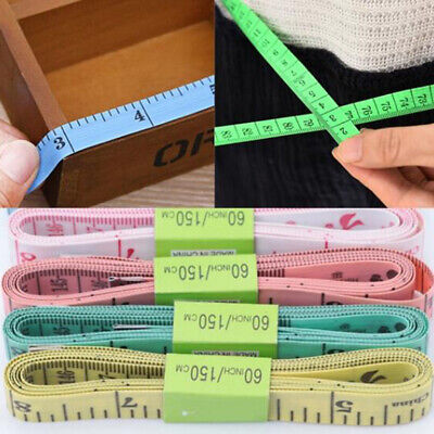 BODY MEASURING RULER SEWING CLOTH TAILOR TAPE MEASURE SOFT FLAT 60INCH 150CM 1pc
