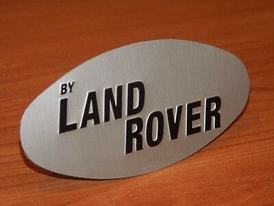"""Early 2 door Range Rover Classic """"by Land Rover"""" oval badge - Free Postage!"""