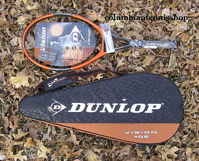 Two New Dunlop Vision 102 Muscle Weave racket unstrung 16 X 19 w/ case org. $348