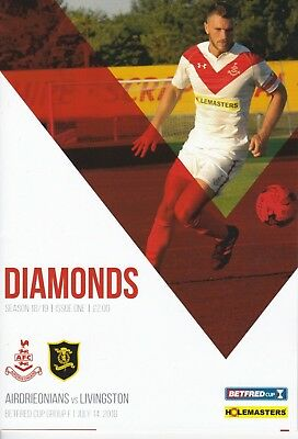Airdrieonians v Livingston 2018/19 brand new football programme