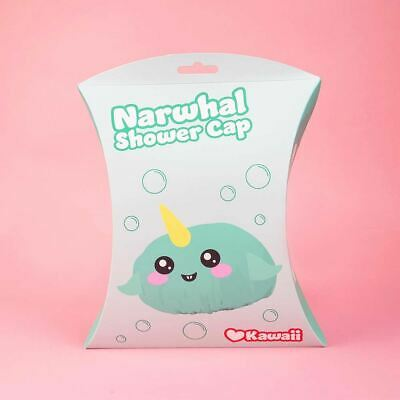 Kawaii Narwhal Novelty Shower Cap
