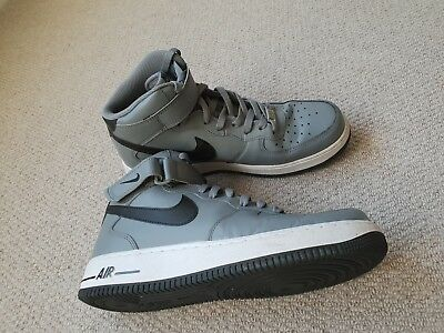 pretty nice bb292 996a9 Worn OnceNike Air Force 1 AF1 COOL GREY WHITE BLACK Size