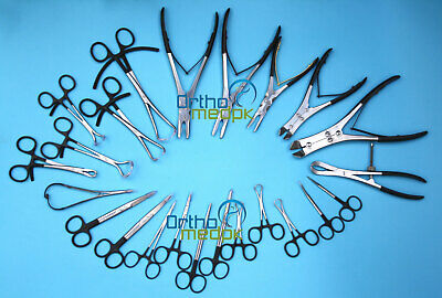 23 Pcs Orthopedic Set of Bone Reduction Forceps, Bone Holders, Cutters & Nibbler