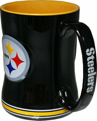 c3e62b9314b NFL Pittsburgh Steelers Sculpted Relief Coffee Mug Boelter Brands 14 Ounce