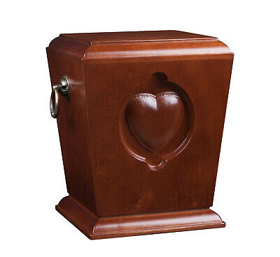 Solid wood Cremation Urn for Adult Unique Memorial Funeral urn for Human Ashes