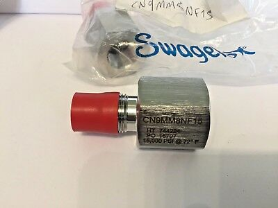 "Swagelok CN9MM8NF15 316 SS IPT  9/16 in. Male Type M Hose Adapter x1/2"" 15000PSI"