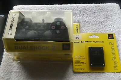 Sony PS2 Official Dualshock 2 analogue Controller & 8MB memory card - NEW SEALED