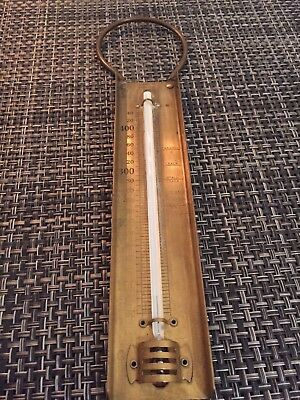 antique Victorian Brass Sugar Thermometer