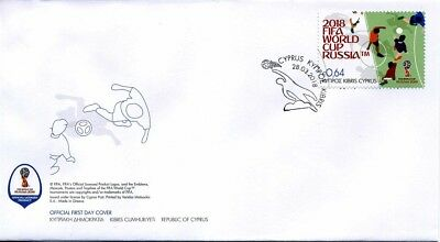 2018 Cyprus, 2018 FIFA World Cup Russia™, soccer, football, FDC