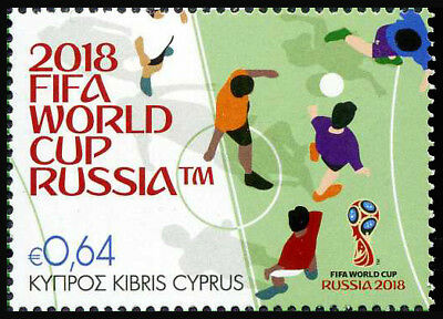 2018 Cyprus, 2018 FIFA World Cup Russia™, soccer, football, stamp, MNH