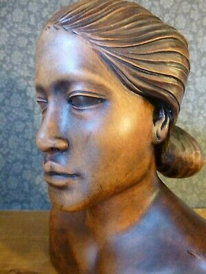 Carved Bust    20Th Century  Stunning Quality   Possibly Indonesian