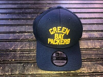 Green Bay Packers Acme Retro Throwback 3950 NEW ERA FITTED FLEX HAT Size M L 3c5b7ea51