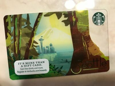 NEW Starbucks SEATTLE City card 2016, never swiped pins intact