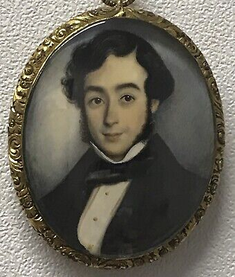 Excellent Quality Antique 18th/19th century Georgian portrait painting gentleman