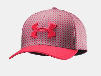 Under Armour UA Mens Golf Hat Cap Fitted M LG Neon Pink 1242636 FAST SHIP 80447e2a124d