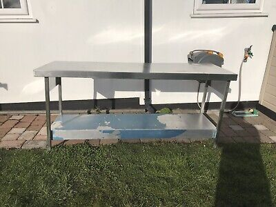Commercial catering stainless steel table work bench kitchen/ Shed Etc