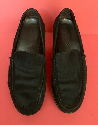 85d24fa1d86 Tod s Tods Gommino Driving Moccasin Loafer Black VGUC sz 7.5 Italy MSRP  675
