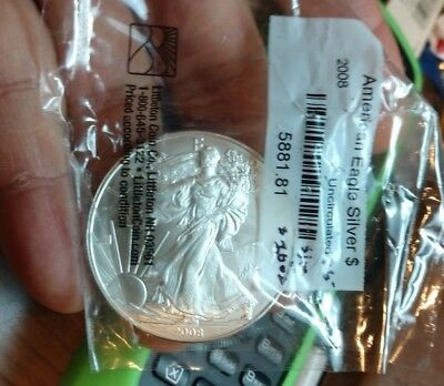 2008 American Silver Eagle One Dollar One Troy Ounce Fine Silver Coin Issue Date