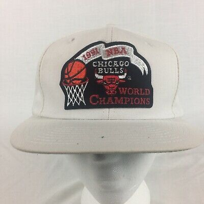 4a1a9bb59ef CHICAGO BULLS 1991 NBA Finals Red on Black Championship Snapback Hat ...