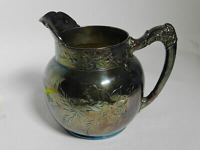 RARE Vintage Ornate Westminster Heavy Silver Plate Pitcher CMC B9 VT2755