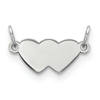 Sterling Silver Engraveable Plate Charm (0.4in x 0.8in)