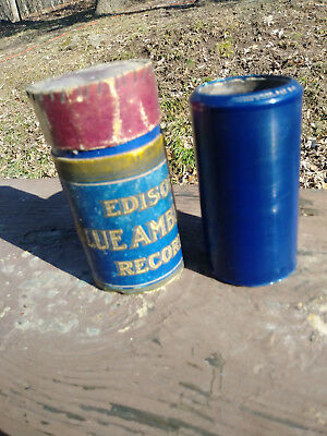 Antique Edison Blue Amberol Cylinder Record No. 2105 The Bird on Nellie's Hat