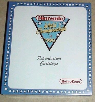 Nintendo World Championships 1990 Retro Zone Reproduction New In