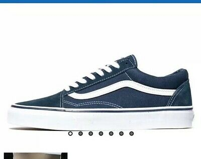 MENS VANS OLD Skool Trainers Gray Dawn True White Trainers Shoes ... 3a22384472b