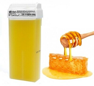 ERBEL Roll on wax cartridge 100ml roller Natural Honey Professional hair removal