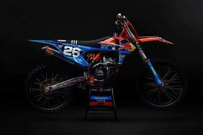 Factory 2019 GOPRO BLUE KTM Team Graphics Kit SX SXF 125 250 350 450 ALL YEARS
