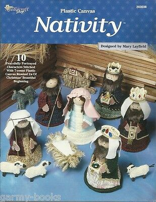 Nativity Figures Plastic Canvas 10 Patterns Mary Layfield Needlecraft Shop NEW