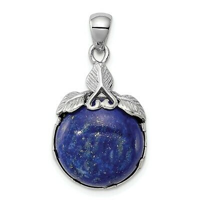 Sterling Silver Rhodium-plated w/Lapis Lazuli Pendant