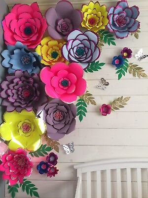 Large Paper Flowers Wall Decor Nursery Decor Wedding Decoration Handmade