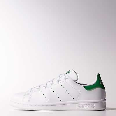 NEW ADIDAS YOUTH Unisex Originals Stan Smith [M20605] WhiteWhite Green