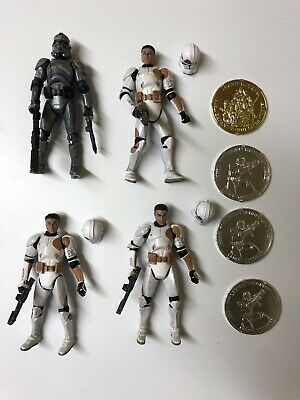 Star Wars 30th 7th Legion Covert Ops Clone Trooper Lot Of 4 Complete Hasbro 3.75