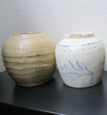 Pair Of Antique Chinese Ginger Jars